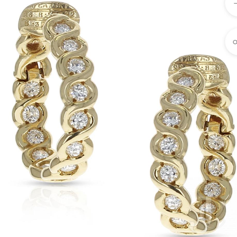 Van Cleef and Arpels Diamond Earrings