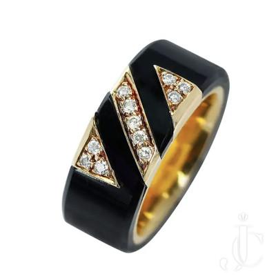 Van Cleef and Arpels, Black Onyx and Diamond Ring