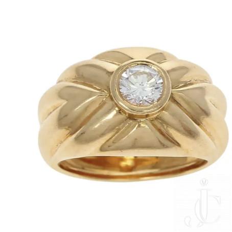 Van Cleef & Arpels, 0.48ct. Bezel-Set Round Solitaire Diamond Cocktail Ring