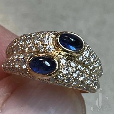 Cartier Paris, Twin Sapphire Diamond ring