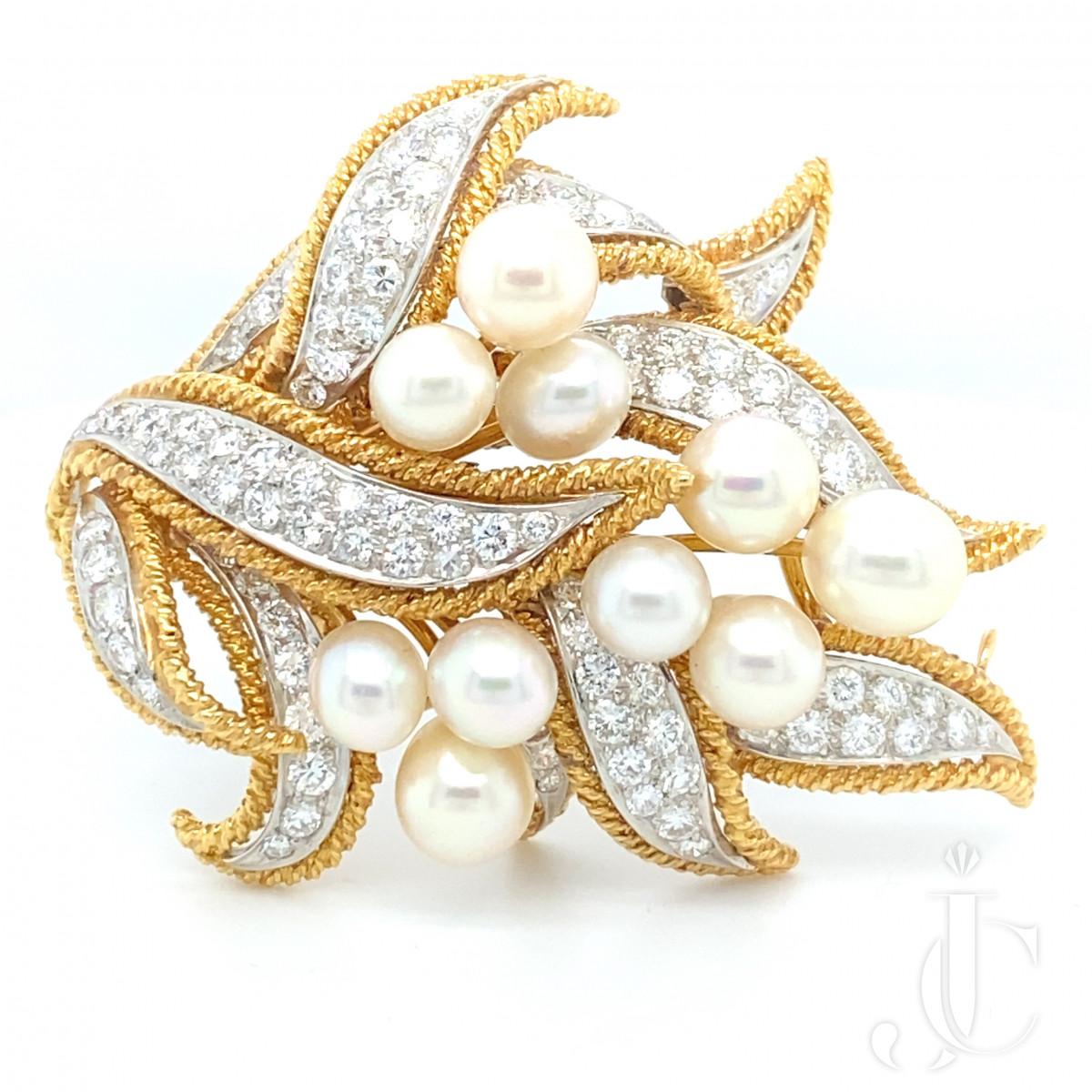 Diamond Pearl Pin