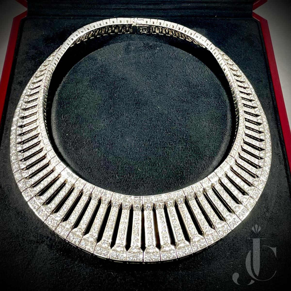 "Cartier Paris ""Anthalia"" 18kt white gold and diamond necklace"