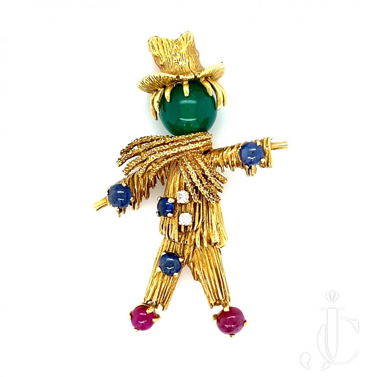 Van Cleef & Arpels Scarecrow pin