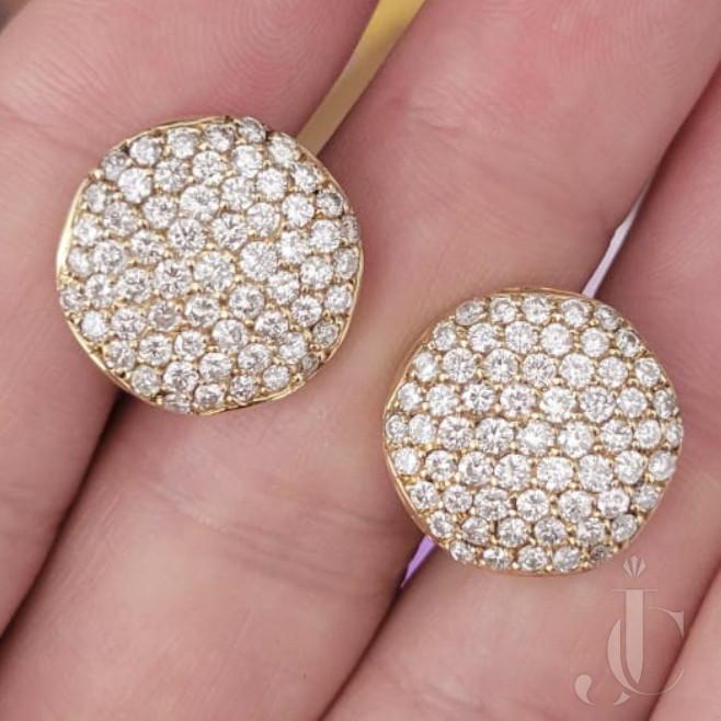 14 KT YG 4.50 carat Diamond Earrings Pair