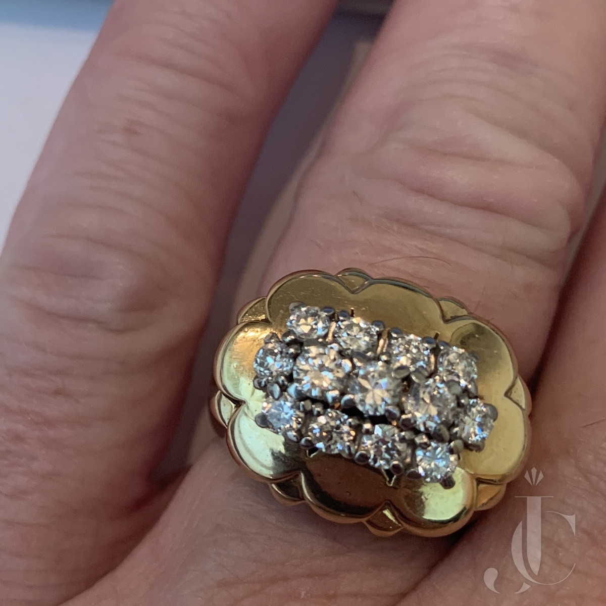 Cartier Diamond and Gold Ring