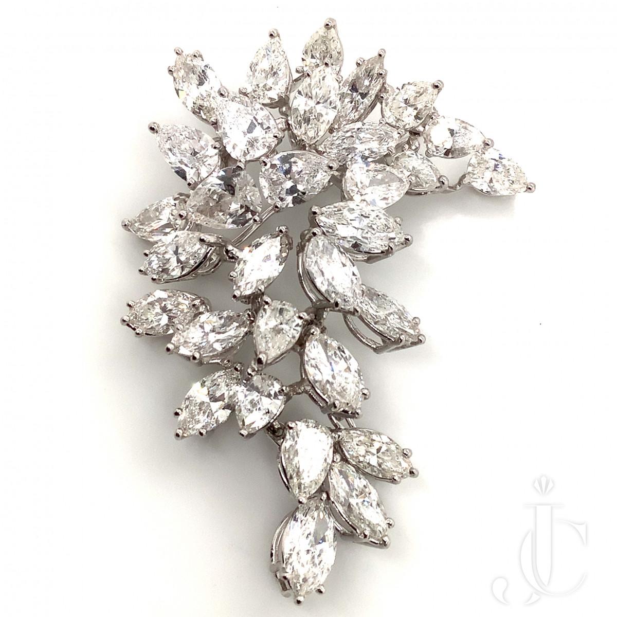 Diamond Stone-on-Stone Brooch