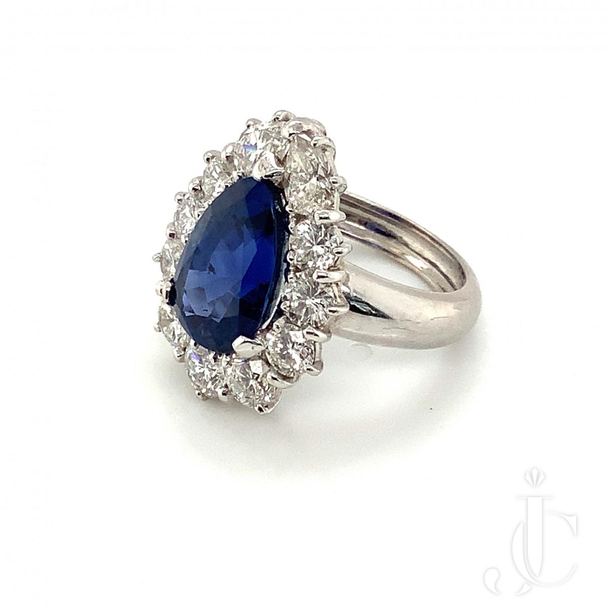 Bulgari Burma Sapphire and Diamond Ring