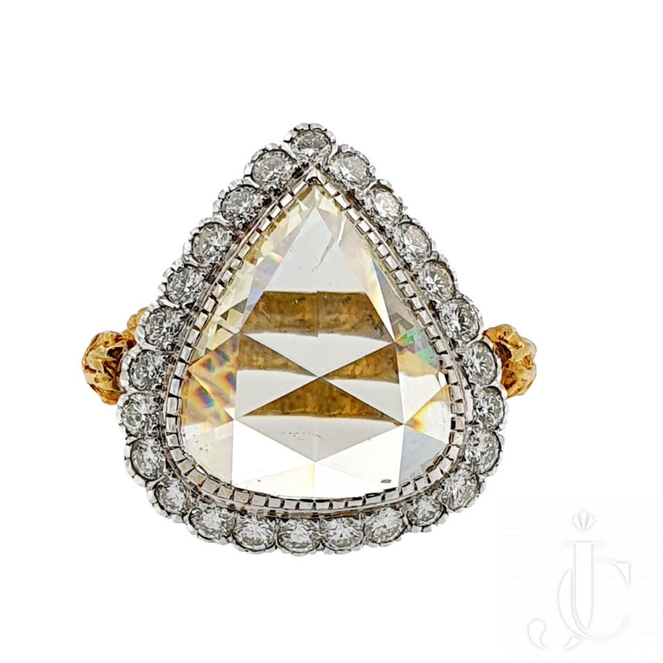 Magnificent Rose Cut Diamond Ring