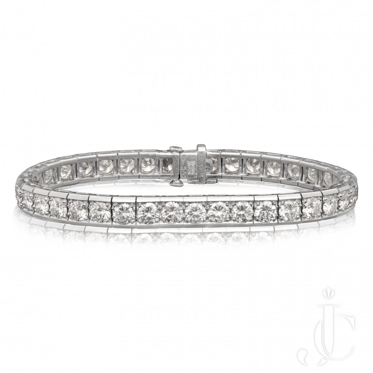 Cartier - Classic Diamond Line Bracelet est.10cts NY c.1950s