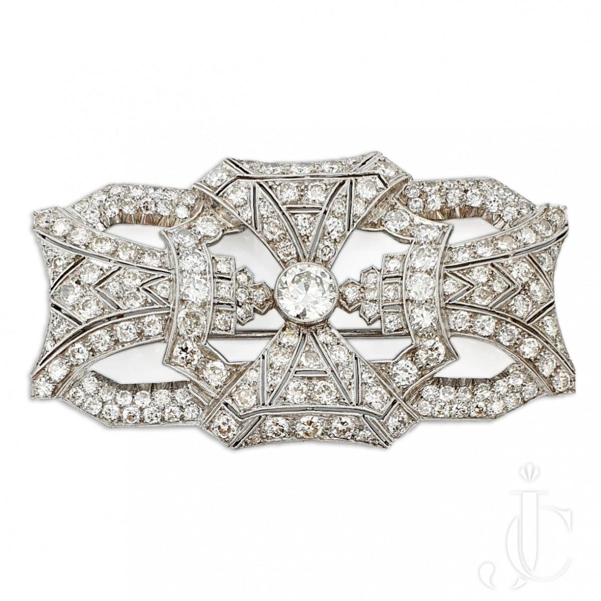 Art Deco Platinum Brooch