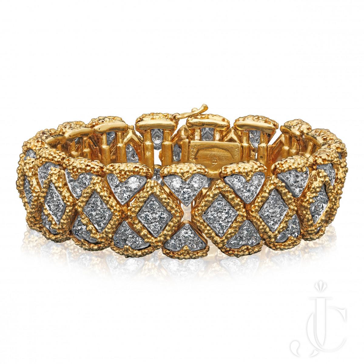 Van Cleef & Arpels Diamond & 18ct Gold Bracelet Paris c.1976
