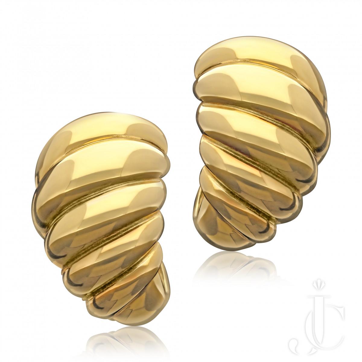 Van Cleef & Arpels Paris Twisted Gold Earrings workmaster Andre Vassort