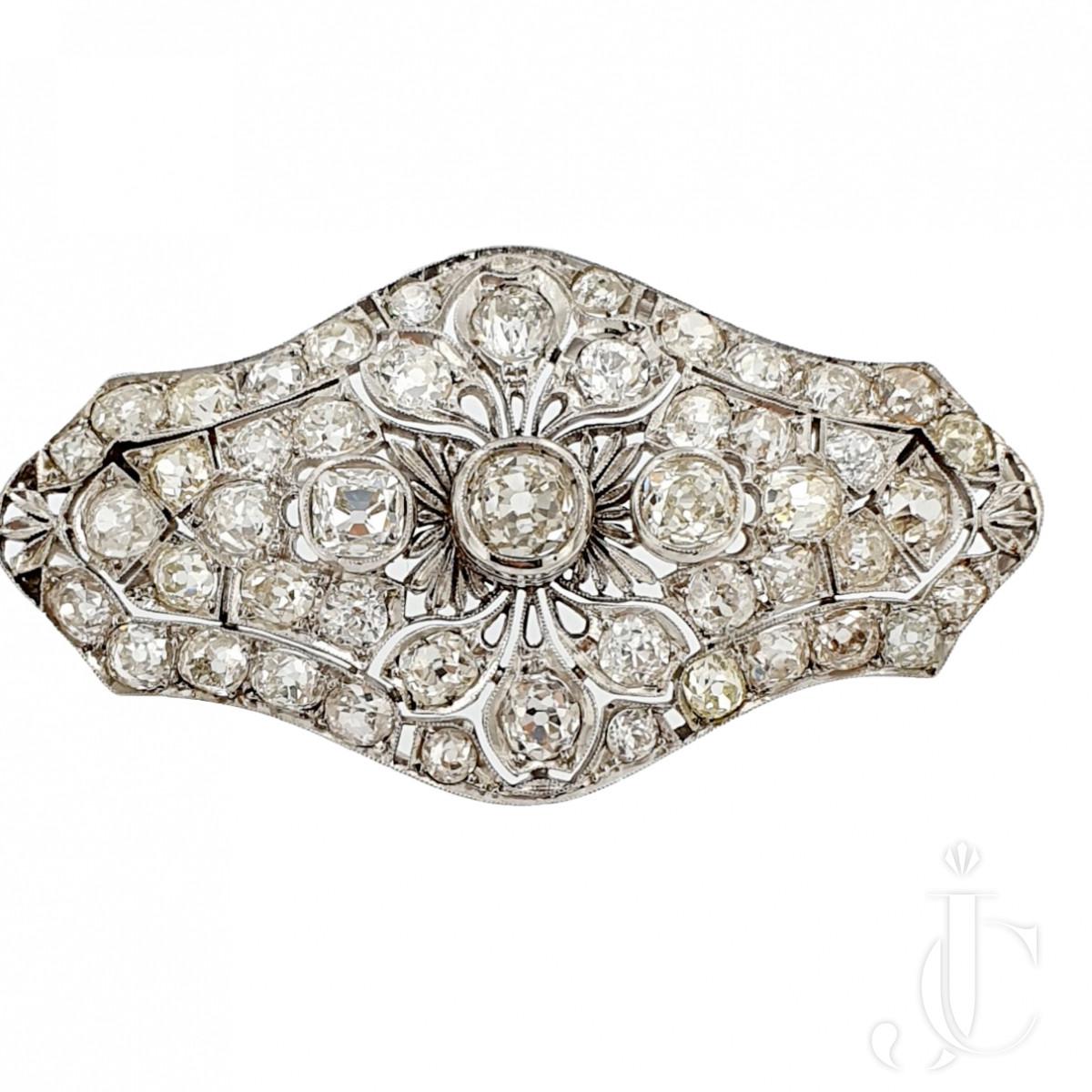 Old Cut Diamond Brooch cum Pendant