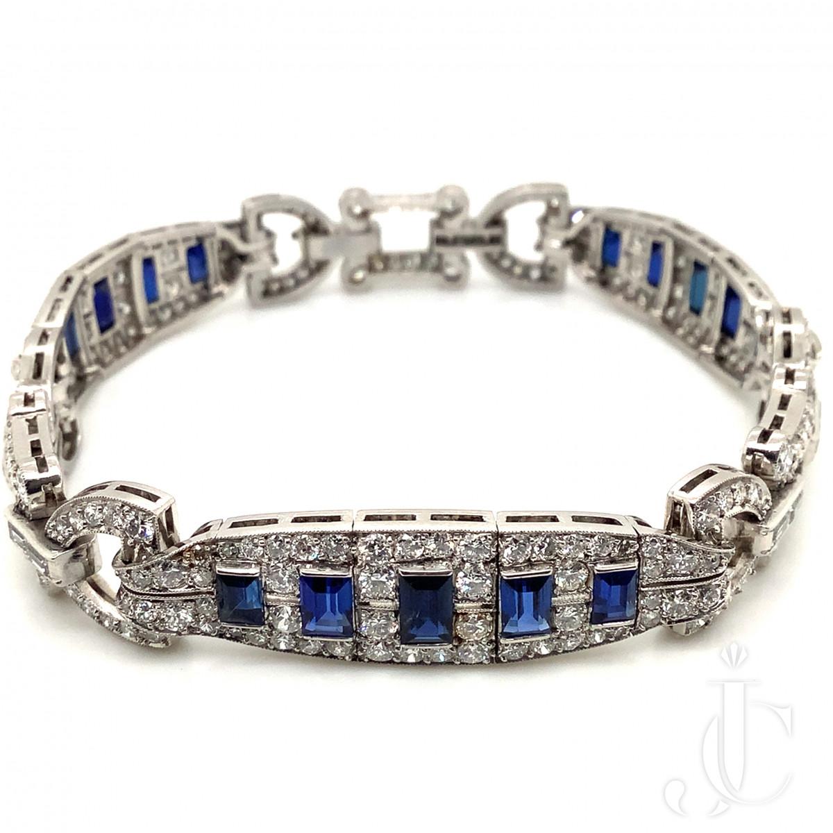 Art Deco Sapphire and Diamond Bracelet