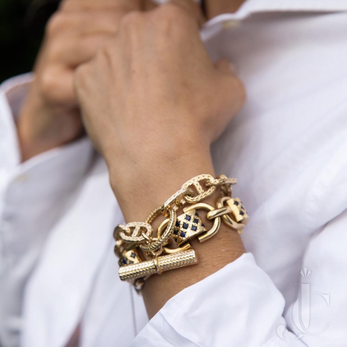 Hermès Anchor chain bracelet