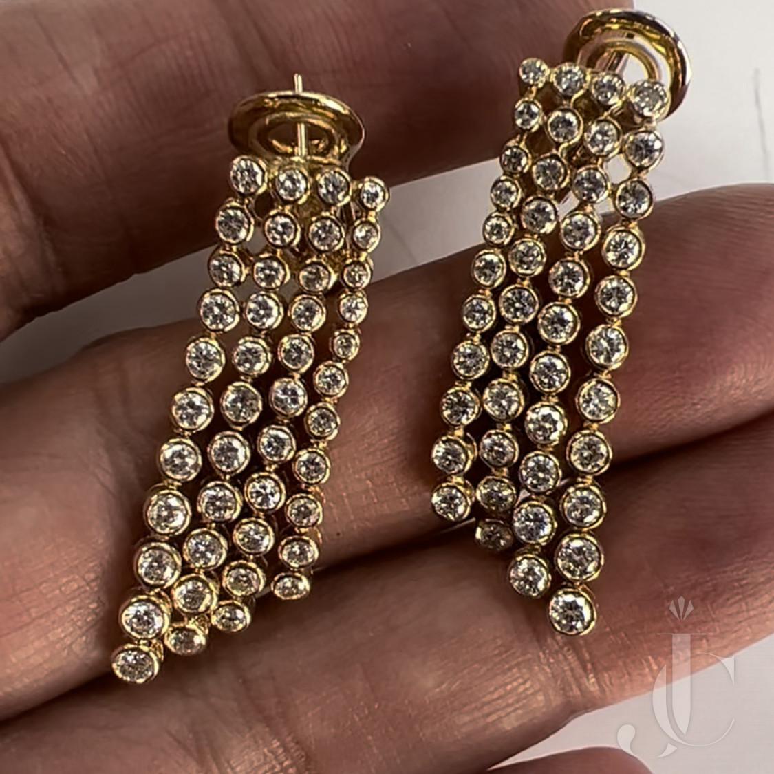 Van Cleef & Arpels Stunning Diamond Earrings by Andre Vassort