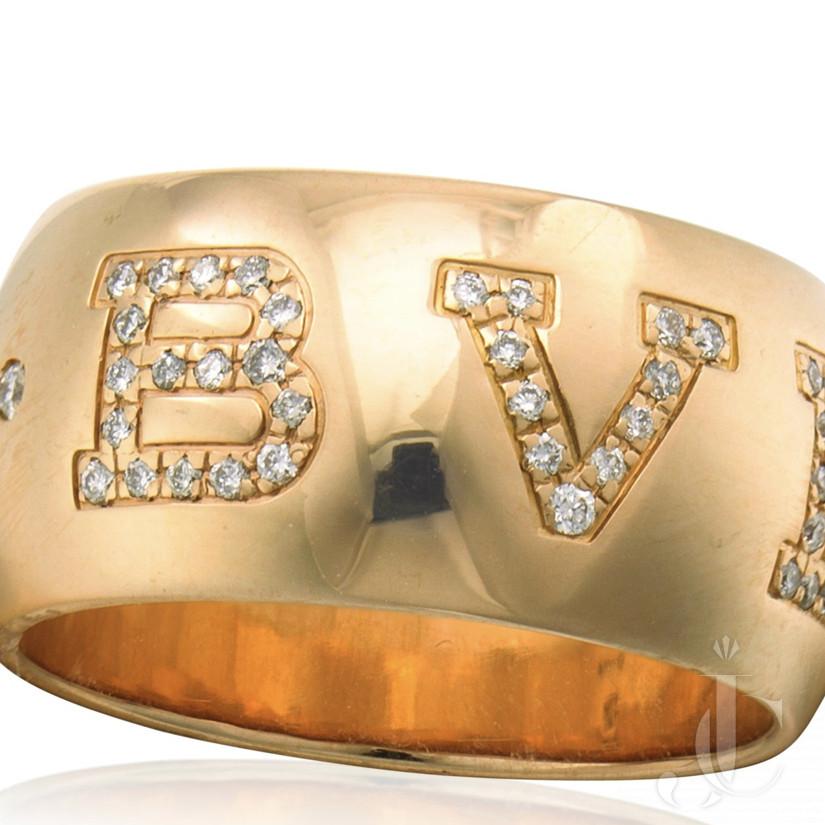 18 KT rose gold Bvlgari Diamond Ring