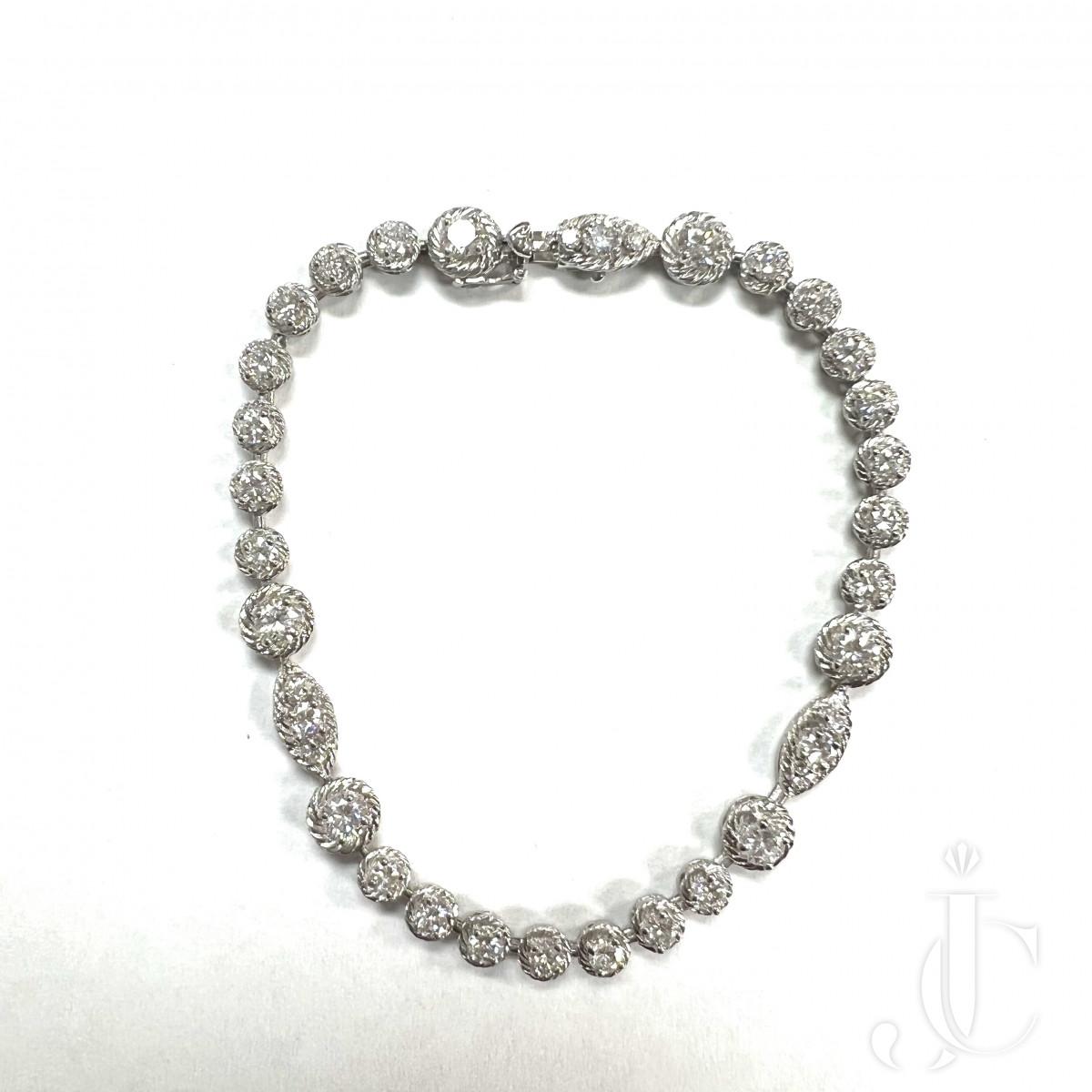 Van Cleef & Arpels Vintage Platinum and Diamond Bracelet